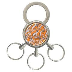 Foolish Movements Swirl Orange 3 Ring Key Chain
