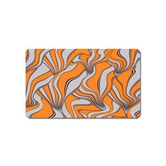 Foolish Movements Swirl Orange Magnet (Name Card)