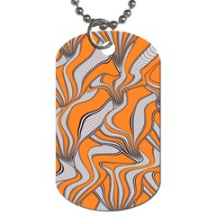 Foolish Movements Swirl Orange Dog Tag (One Sided)