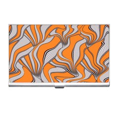 Foolish Movements Swirl Orange Business Card Holder
