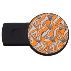 Foolish Movements Swirl Orange 1GB USB Flash Drive (Round)