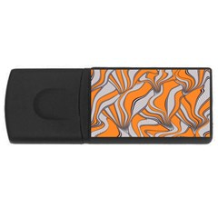 Foolish Movements Swirl Orange 2GB USB Flash Drive (Rectangle)