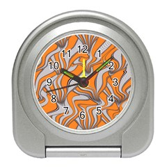 Foolish Movements Swirl Orange Desk Alarm Clock