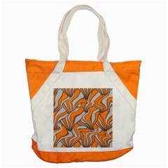 Foolish Movements Swirl Orange Accent Tote Bag