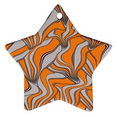 Foolish Movements Swirl Orange Star Ornament (two Sides)
