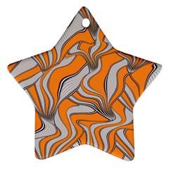 Foolish Movements Swirl Orange Star Ornament (Two Sides)