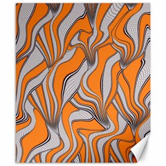 Foolish Movements Swirl Orange Canvas 8  X 10  (unframed)