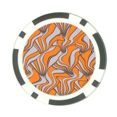 Foolish Movements Swirl Orange Poker Chip