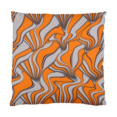 Foolish Movements Swirl Orange Cushion Case (Two Sided)
