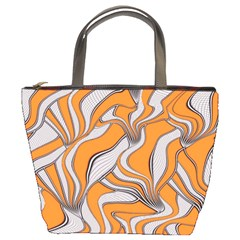 Foolish Movements Swirl Orange Bucket Bag