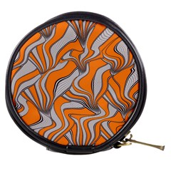 Foolish Movements Swirl Orange Mini Makeup Case