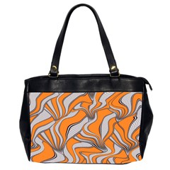 Foolish Movements Swirl Orange Oversize Office Handbag (Two Sides)