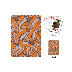 Foolish Movements Swirl Orange Playing Cards (Mini)