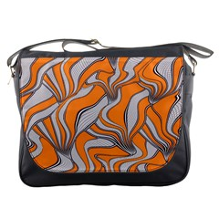 Foolish Movements Swirl Orange Messenger Bag