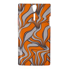 Foolish Movements Swirl Orange Sony Xperia S Hardshell Case