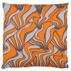 Foolish Movements Swirl Orange Large Cushion Case (Single Sided)