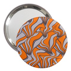 Foolish Movements Swirl Orange 3  Handbag Mirror