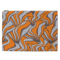 Foolish Movements Swirl Orange Cosmetic Bag (xxl)