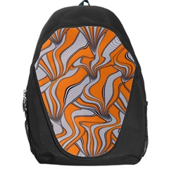 Foolish Movements Swirl Orange Backpack Bag