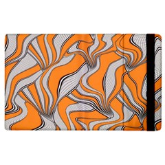 Foolish Movements Swirl Orange Apple iPad 2 Flip Case