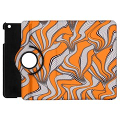 Foolish Movements Swirl Orange Apple Ipad Mini Flip 360 Case