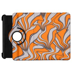 Foolish Movements Swirl Orange Kindle Fire Hd 7  Flip 360 Case