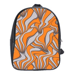 Foolish Movements Swirl Orange School Bag (xl)