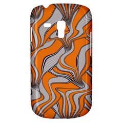 Foolish Movements Swirl Orange Samsung Galaxy S3 Mini I8190 Hardshell Case