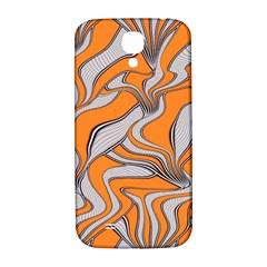 Foolish Movements Swirl Orange Samsung Galaxy S4 I9500/I9505  Hardshell Back Case