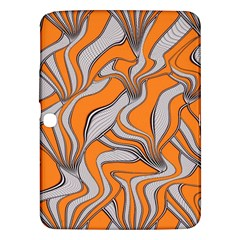 Foolish Movements Swirl Orange Samsung Galaxy Tab 3 (10.1 ) P5200 Hardshell Case