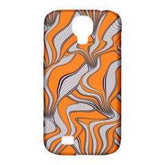 Foolish Movements Swirl Orange Samsung Galaxy S4 Classic Hardshell Case (PC+Silicone)