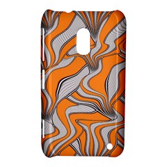 Foolish Movements Swirl Orange Nokia Lumia 620 Hardshell Case