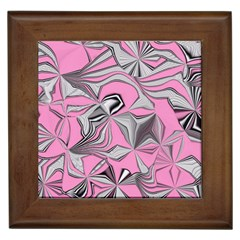 Foolish Movements Pink Effect Jpg Framed Ceramic Tile