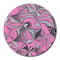 Foolish Movements Pink Effect Jpg 8  Mouse Pad (Round)