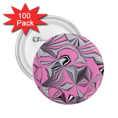 Foolish Movements Pink Effect Jpg 2.25  Button (100 pack)