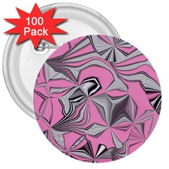 Foolish Movements Pink Effect Jpg 3  Button (100 pack)