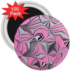 Foolish Movements Pink Effect Jpg 3  Button Magnet (100 pack)
