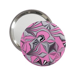Foolish Movements Pink Effect Jpg Handbag Mirror (2 25 )