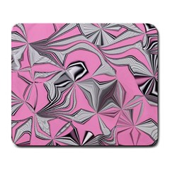 Foolish Movements Pink Effect Jpg Large Mouse Pad (Rectangle)