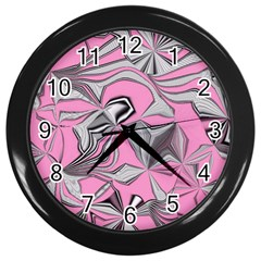 Foolish Movements Pink Effect Jpg Wall Clock (black)