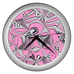 Foolish Movements Pink Effect Jpg Wall Clock (Silver)