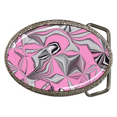Foolish Movements Pink Effect Jpg Belt Buckle (oval)