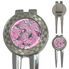 Foolish Movements Pink Effect Jpg Golf Pitchfork & Ball Marker