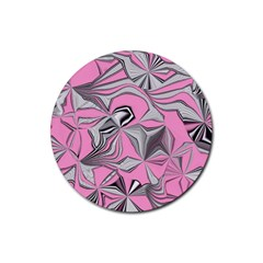 Foolish Movements Pink Effect Jpg Drink Coaster (round)
