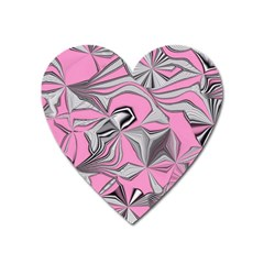 Foolish Movements Pink Effect Jpg Magnet (Heart)