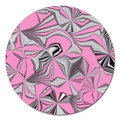 Foolish Movements Pink Effect Jpg Magnet 5  (round)