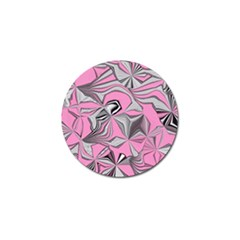 Foolish Movements Pink Effect Jpg Golf Ball Marker 4 Pack