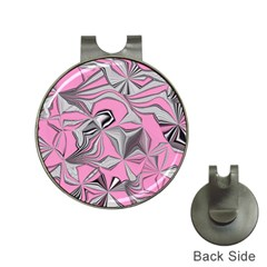 Foolish Movements Pink Effect Jpg Hat Clip with Golf Ball Marker