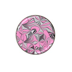 Foolish Movements Pink Effect Jpg Golf Ball Marker 4 Pack (for Hat Clip)