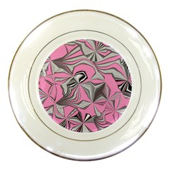 Foolish Movements Pink Effect Jpg Porcelain Display Plate
